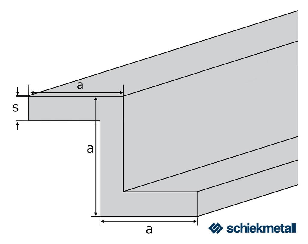 alu z profil en aw 6060 almgsi0 5 50x50x50x4 mm gepresst. Black Bedroom Furniture Sets. Home Design Ideas