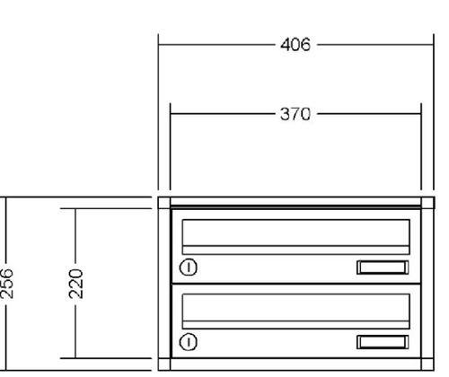 Renz Briefkasten 370x110x270 mm mit Klappe in RAL 9016 Verkersweiß. Einwurf 335x33 mm, DIN EN 13724, Kunststoffnamenschild