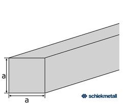 Kupfer-Vierkant CW004A (Cu-ETP) 8x8 mm gezogen R250/300 EN13601 EZL 4/4,2 m