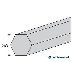 1.4305 Sechskantstahl 12 mm blank gezogen geglüht EZL 3 m
