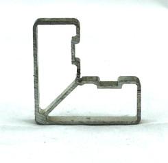 Alu Eckverbinder für Durchzug 50x30 mm 1 Pkt. = 8 Stk.