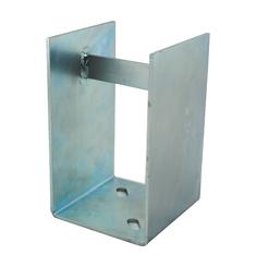 Stahl verzinkt Konsole für Steher 80x80 mm verdeckt