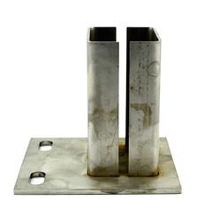 Niro Konsole für Steher 80x60 mm