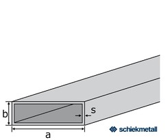 Messing-Rechteckrohr CW508L (Ms63) 40x20x2 mm gezogen EZL 3 - 6 m