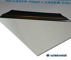 1.4301 Edelstahlblech 0,6x1000x2000 mm (IV) 2G einseitig geschliffen+ Laserfolie
