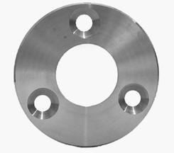 A2 Rohrflansch f. Rundrohr 42,4 D=100/6 aus Blech gedreht 3 Bohrungen D 11 mm 120° versetzt