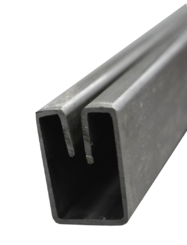 1.4301 Einfassprofil LE 20x30-1,7 mm für 2,0 mm geschliffen K220/240 EZL 3 m + Schutzschlauch