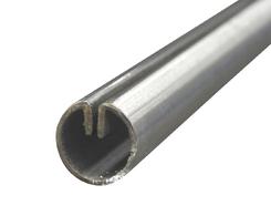 1.4301 Einfassprofil LR 27-1,7 mm für 2,0 mm geschliffen K220/240 EZL 3 m + Schutzschlauch