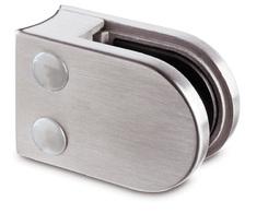 A4 Glasklemme f. Rundrohr 42,4 f. 8 mm Glas Modell 20 gebürstet  14.2008.042.12