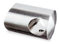 A2 Querstabhalter f. Rundrohr 42,4x2 f. 16 mm Stab gebürstet  13.0840.042.12