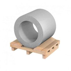 Alu-Farbband Reynotrim EN-AW 3003 1,0x1000 mm H44 VS:RAL9006-25% Astralsilver RS: Schutzlack + Folie - Coil a 1000 kg