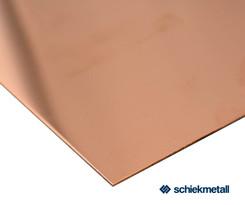 Kupfer-Blech EN CW004 A (Cu-ETP) 5,0x1000x2000 mm halbhart R240 EN 1652