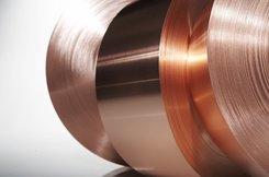 Kupfer-Band CW020A (Cu-PHC) 0,1x300mm R220 weich EN 13599 a' 30,-kg