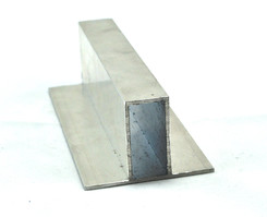 Sprossenprofil EN-AW6060 (AlMgSi0,5) 40x20x2 mit beids. 20 mm Fahne gepr. T66 EN755-9 EZL 6,5m