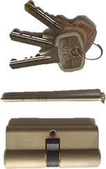 WSS 01.901.3535.325 Profilzylinder n. DIN 18252/ EN1303 vernickelt, glaskugelgestr. mit 3 Schblüssel Länge 71 mm mit Schraube M5