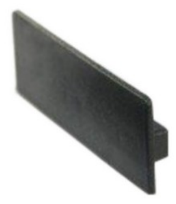 Abdeckkappe für System 60 (63,0x20,0mm), PE schwarz 1 Pkt. = 10 Stk.