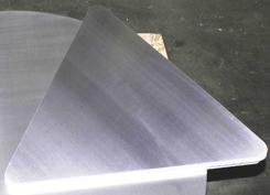 Dreieck EN-AW 1050A (Al99,5) 1,5x1000 mm  H24 blank mit R = 30 mm